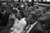 Attendees listening to Jesse Jackson speak at Brown Chapel AME Church in Selma, Alabama, during the 20th anniversary commemoration of the Selma to Montgomery March.
