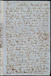 Letter from Richard Davis Webb, Dublin, [Ireland], to Maria Weston Chapman, November 12, 1850
