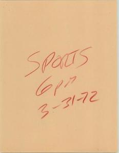 News Script: 6 PM sports