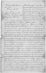 Benjamin Robenson's Original Fugitive Slave Petition and Ownership Documentation: Deed