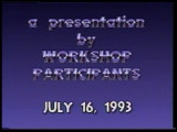 Fiction and Poetry Readings: A Presentation by Workshop Participants, July 16, 1993