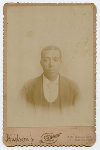 Photograph of a Young African-American Man Wearing a Vest