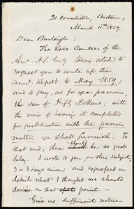 Letter from Samuel May, Boston, to Charles Calistus Burleigh, March 11th, 1859