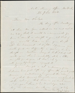 Letter from Elizur Wright, New York, to Amos Augustus Phelps, 1834 June 26