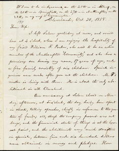 Letter from William Lloyd Garrison, Cleveland, [Ohio], to Helen Eliza Garrison, Oct. 20, 1858