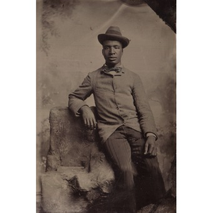African-American man wearing a bow-tie