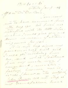 Letter from Meta Vaux Warrick to W. E. B. Du Bois