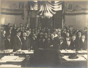 "Signing of the ""Jim Crow"" Law in the First Legislature"