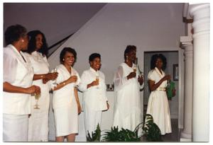 Women with Wine Glasses During New Member Induction Ceremony San Antonio Chapter of Links Records