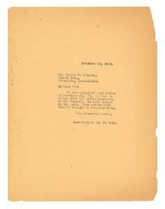 Letter from Crisis to Foster M. Ricardo