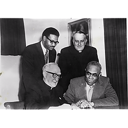 Mr. Barber, a black preacher, and two priests