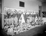 Monroe School [children in American Indian costumes : nitrate film photonegative.]