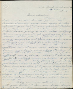 Letter from Deborah Weston, New Bedford, [Mass.], to Maria Weston Chapman, March 4th, Wednesday night