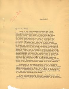 Letter from W. E. B. Du Bois to Carleton Beals