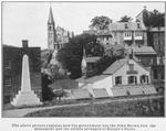 The above picture explains how the government has the John Brown fort, the monument and the tablets arranged at Harper's Ferry