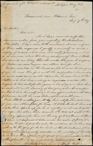 E.A. Gibbes, Rosemont, near Adams Run, S.C., autograph letter signed to Ziba B. Oakes, 29 January 1857