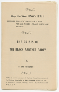 Stop the War Now!: The Crisis of the Black Panther Party