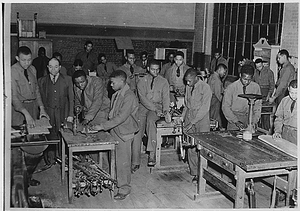 Civilian Conservation Corps, Third Corps Area: Richmond, Virginia, Co. 1372 and 1375 - cabinet making class at Armstrong Night School