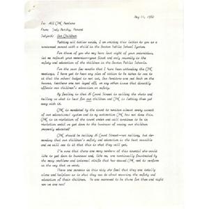 Letter, our children.