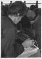 Student Works with Equipment in Class - ca. 1970-1979