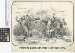 Practical illustration of the fugitive slave law / E.C., del. [signed on stone].