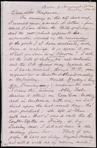 Letter from Samuel May, Boston, [Mass.], 9 Burroughs Place, to Maria Weston Chapman, Sunday, Nov. 22, [1857]