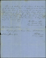 Document signed Jno. Thomas, attorney for Elizabeth Pease, 23 Commercial Place, April 28, 1856