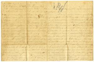 Letter from Bettie Wallace to Elvira Moore, 1861 Charles B. Moore Family papers, 1832-1917