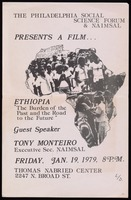 Poster. Film, Ethiopia: The Burden of the Past and Road to the Future