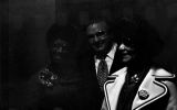 Shirley Chisholm with Mayor David Vann and Louphenia Thomas at 16th Street Baptist Church in Birmingham, Alabama, during her presidential campaign.