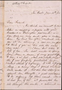 Letter from Maria Martineau, The Knoll, to Philip Pearsall Carpenter, William Lloyd Garrison, and Wendell Phillips, [18]60 June 14th