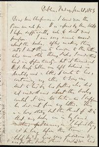 Letter from Richard Davis Webb, Dublin, [Ireland], to Maria Weston Chapman, Jan. 28, 1853
