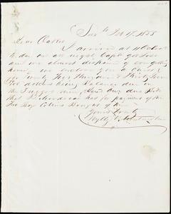 Wylly & Montmollin, Savannah, Ga., manuscript letter signed to Ziba B. Oakes, 17 February 1855
