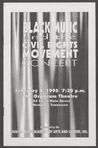 Program: Black Music and the Civil Rights Movement