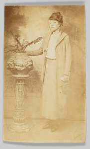 Photographic postcard of a woman
