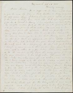 Letter from Anne Warren Weston, Weymouth, [Mass.], to Maria Weston Chapman, Feb. 25, 1841, Thursday evening