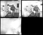 Set of negatives by Clinton Wright of Earl's barber shop, 1966