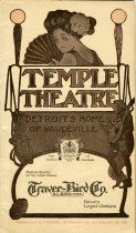Program booklet for a vaudeville performance at the Temple Theatre the week of April 24, 1911