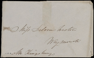 Envelope from Caroline Weston to Deborah Weston
