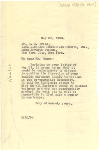 Letter from W. E. B. Du Bois to Roscoe Conkling Bruce