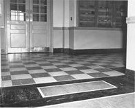Interior of Keyes Building, 1950s