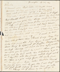 Letter from Clarissa Bodwell Phelps Tryon, Farmington, [Connecticut], to Amos Augustus Phelps and Charlotte Phelps, 1823 Apr[il 14th].