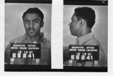 Mississippi State Sovereignty Commission photograph of Benjamin Elton Cox following his arrest in Baton Rouge, Louisiana, 1961 December 15