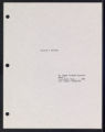 Willie and Esther [production records] (Box 7, Folder 26)