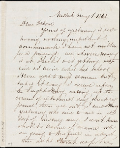 Letter from Richard Warren Weston, New York, to Deborah Weston, May 1, 1863