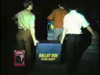 WSB-TV newsfilm clip of polls and campaign headquarters on the night of the mayoral election, Atlanta, Georgia, 1969 October 7