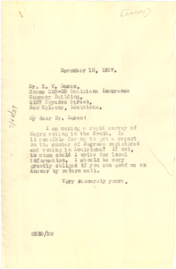 Letter from W. E. B. Du Bois to G. W. Lucas