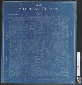 Map of Stephens County.