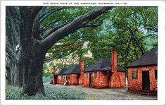 Old Slave Huts at the Hermitage, Savannah, Ga