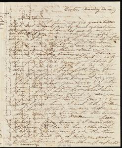 Letter from Caroline Weston, Boston, to Deborah Weston, Monday morning, [19? Sept. 1836]